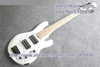 Chinese Glossy White Finish 6 String Music Man Electric Bass Guitar Same As Pictures