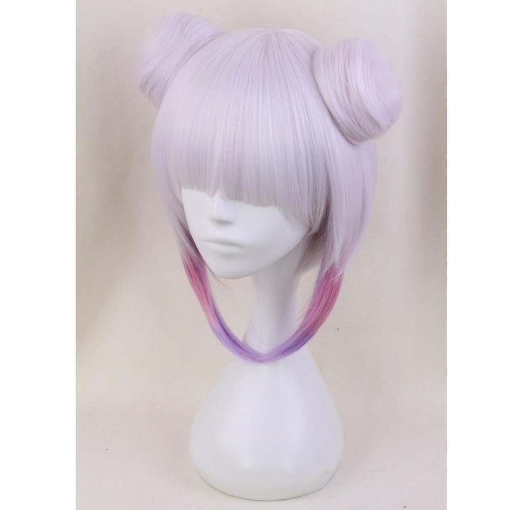 Miss Kobayashi 39 s Dragon Maid Kanna Kamui Synthetic Hair Heat Resistant Cosplay Wig With Double Buns