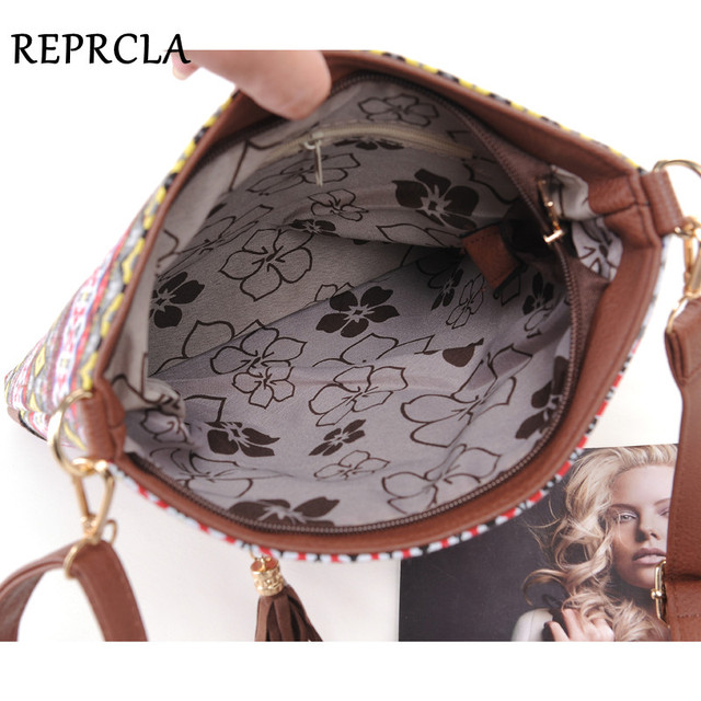 Fashion Women Canvas Sling Bags Messenger Bags Crossbody Flap Tassel Bag Handbags Designer Shoulder Bags 5