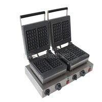 1 adet elektrikli çift için Waffle makinesi  ticari kare Waffle makinesi  waffle ızgara/Waffle fırın/aperatif makinesi