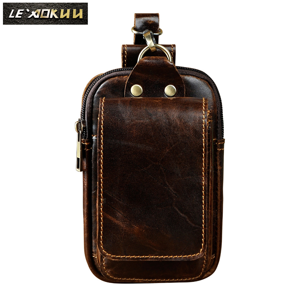 Fashion Original Leather Male Gift Small Summer Pouch Hook Design Cigarette Case 6