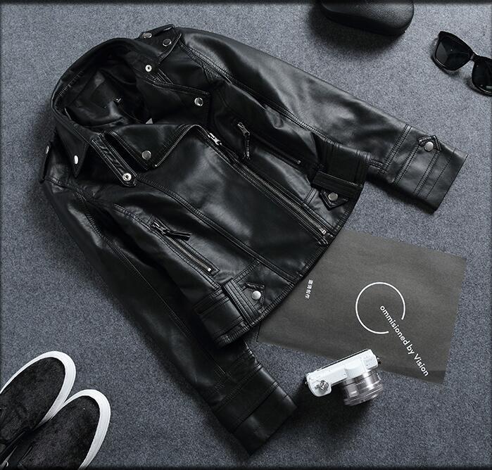 Cuir En Vestes Femmes Noir Vêtements Moto Courte Dames Slim Nouvelles Mode Survêtement Veste De Manteau dIw7tP
