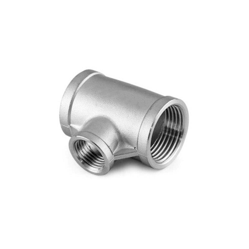 """1-1//2/"""" x1-1//4/"""" 90 ° ángulo Reductor tubo de codo Hembra Roscado Codo De Acero Inoxidable De Ajuste"""