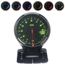 60MM 0-9000RPM 12V Universal 7 Color Backlight Car Tachometer LED Super Bright Display for Vehicles Auto Cars