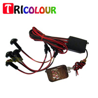 TRICOLOUR 1Set DRL 4*1.5W Car Strobe Flash Eagle Eye Reverse Backup Stop Daytime Running Light with Remote Control #T07022