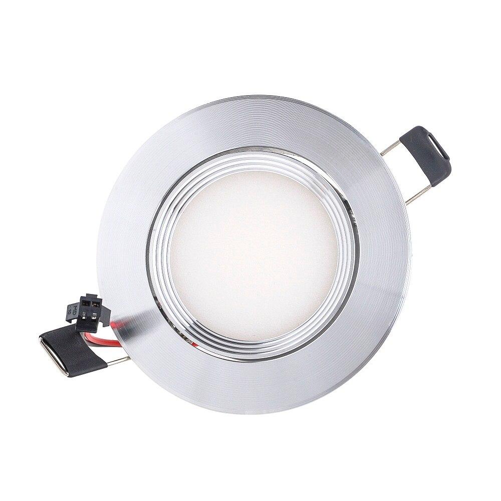 3W 6W 9W LED COB mikroshēmu lejupvērsts Iegremdēts LED Griestu gaisma Spot Light Lamp Baltā / silta balta lampa epistar Karstā pārdošana
