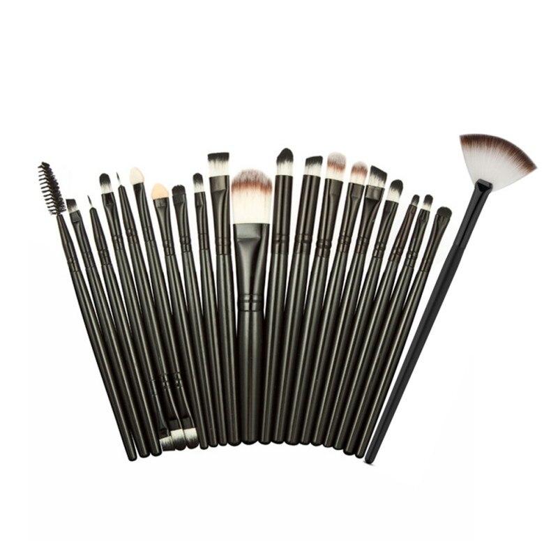 Women 21pcs Makeup Tool Brushes Set Powder Foundation Eyeshadow Eyeliner Lip Tool Set