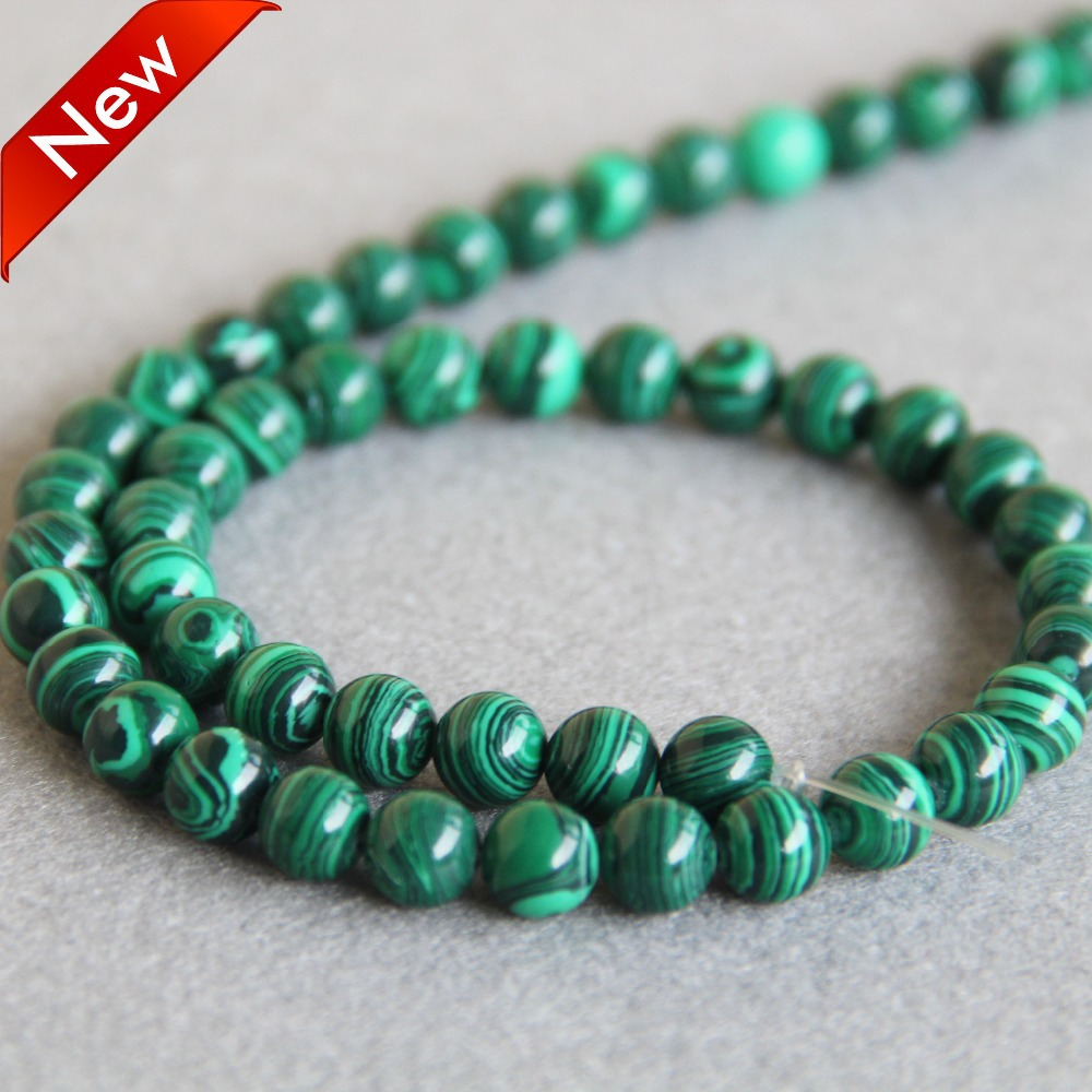 Natural Huge 10mm Green Malachite Gemstone Pendant Necklace 18/'/' AAA