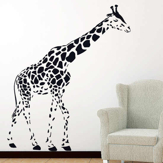 Carved(not print) wall decor decals home stickers art PVC vinyl Giraffe C-107 - Wall Art Stickers store