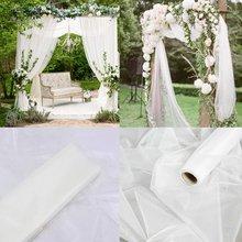 Rouleau de Tulle en tissu Organza blanc pour filles, rouleau de Tulle 48cm x 10m, fournitures de décoration de fête prénatale Tutu pour filles, fournitures de cadeau d'anniversaire