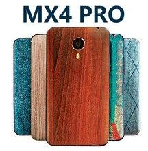Meizu MX4 Pro Оригинальный чехол mx4pro бамбука стиль батареи оригинальная крышка задняя крышка мультфильм живопись матовая окрашены Крышка рельеф