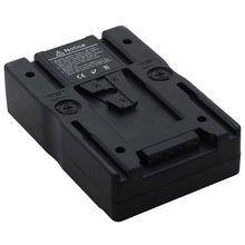 Adaptador de placa de alimentación de batería de montaje en V con abrazadera d tap para Sony cámara de vídeo DSLR