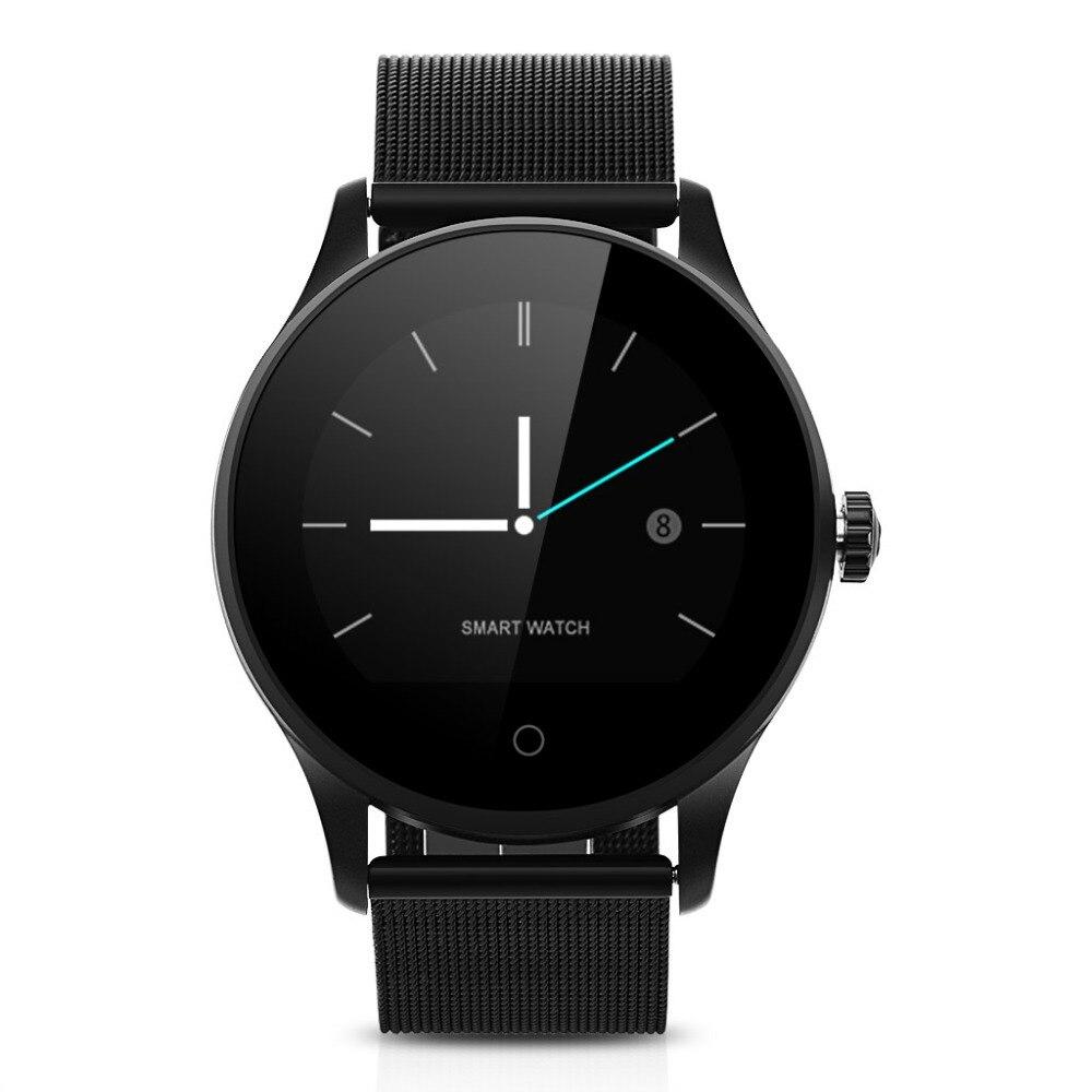 K88H Смарт часы HD дисплей сердечного ритма мониторы Шагомер фитнес трекер MTK2502C для мужчин Smartwatch подключен для Android IPhone
