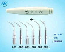 Jeden zestaw Ultrasonic Dental Scaler rękojeść i porady zgodne z SATELEC / DTE / GNATUS Dental Material Dental Care