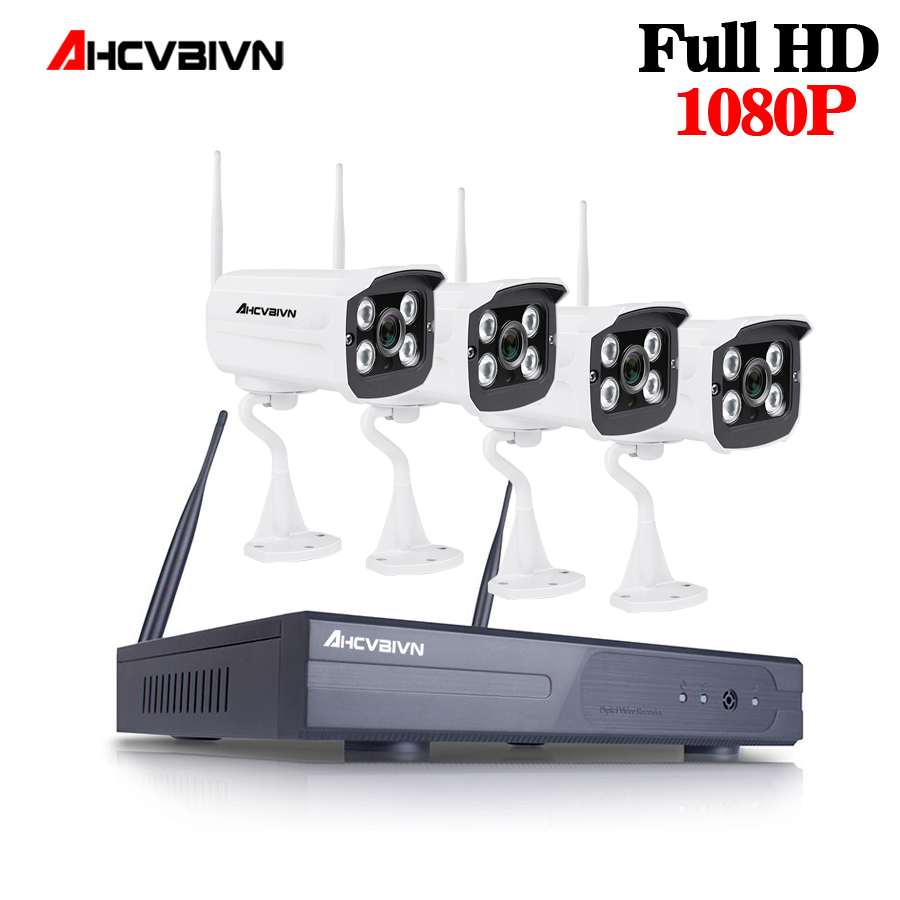 AHCVBIVN WIFI NVR System Plug&Play 1080P HDMI 4CH 2.0MP NVR KIT super Wireless signal P2P WIFI IP Camera Outdoor CCTV SystemAHCVBIVN WIFI NVR System Plug&Play 1080P HDMI 4CH 2.0MP NVR KIT super Wireless signal P2P WIFI IP Camera Outdoor CCTV System