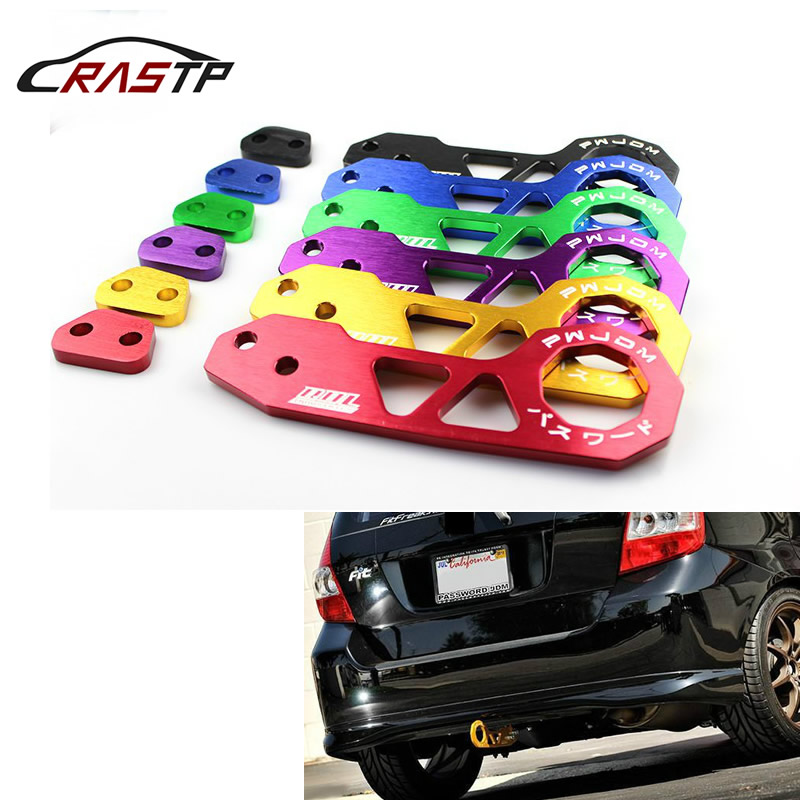 RASTP-New JDM Style Racing Rear Tow Hook Aluminum Alloy Rear Tow Hook For <font><b>Honda</b></font> Civic RS-TH004 image