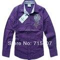 AM оригинальные AERONAUTICA MILITARE, рубашки женщин, вышитые леди рубашки, марка ткани 5 цветов Бесплатная Доставка