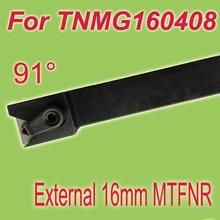 "Free Shiping MTFNR 16*16*100 SHK 3/5"" 91 Degree External Turning Lathe Bar Tool Holder For TNMG160408 Used on CNC Lathe Machine"