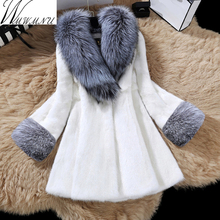 Wmwmnu 2017 Winter Women High Imitation Faux Fur Coat Jacket Fur warm Coat Women Clothes Fox Fur luxurious Coat plus Size 5XL