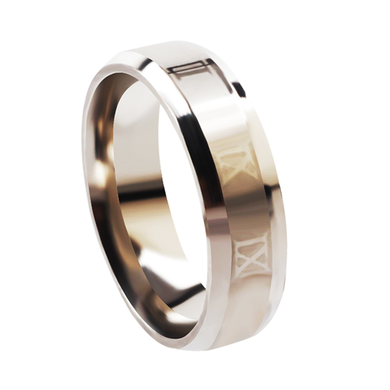 Mens Silver Design Fashion IX 316L Stainless Steel Ring Cocktail Sexy Men Women Wedding Engagement Party Valentine Gift ...