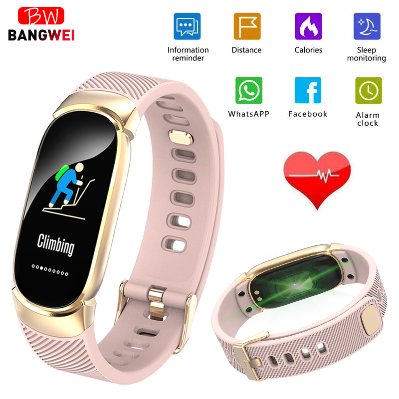 Men's Watches Watches Bangwei Smart Watch Men Heart Rate Blood Pressure Monitor Sport Smart Watch Led Color Display Smart Fitness Watch Ios Android Pure Whiteness