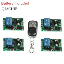 цена на QIACHIP 433Mhz Wireless Remote Control Switch AC 110V 220V 1CH RF Relay Receiver Module + 433 Mhz Transmitter Remote Control DIY