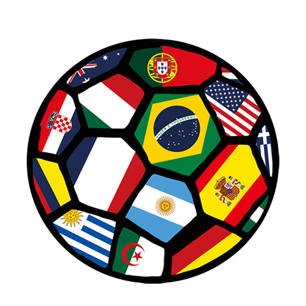 World Cup Football Round Area Rugs Washable Non Slip Chair Mat Boys Room  Rugs And