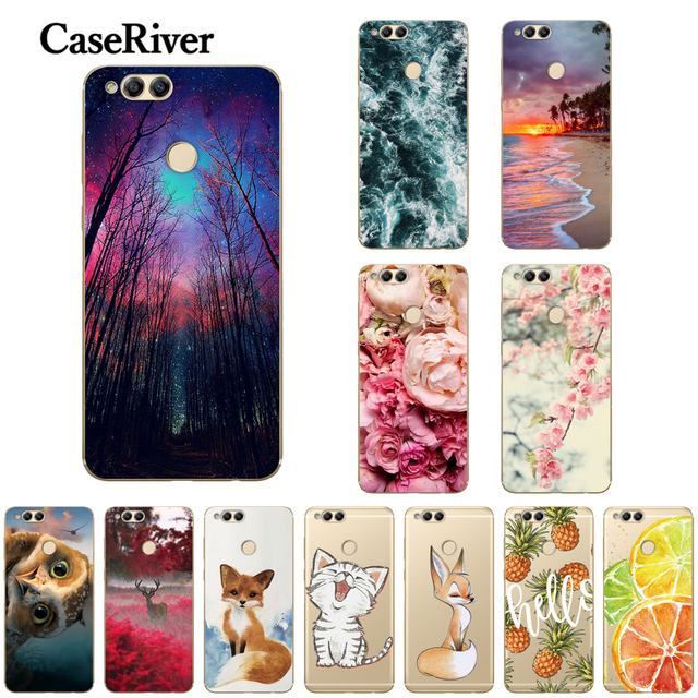 buy popular ef5b5 c8b11 US $0.8 20% OFF|CaseRiver Huawei Honor 7X Case Printed TPU Soft Silicone  Case For Huawei Honor 7X Phone Back Cover Capas-in Fitted Cases from ...