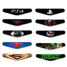 Stickers For Sony Play station 4 For PS4 controller LED Light Bar Decal PVC Sticker for