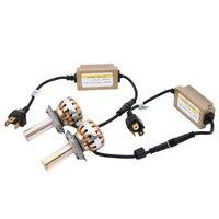 2PCS Set 72W Hi Lo LED Car Headlight Bulb H4 Beam COB Led Headlights 6000k