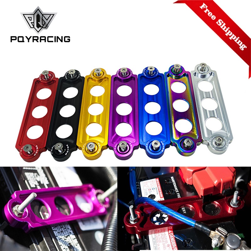 Free Shipping Car Racing Battery Tie Down Hold Bracket Lock Anodized For JDM Honda Civic/CRX 88-00 Car Accessory PQY-BTD71
