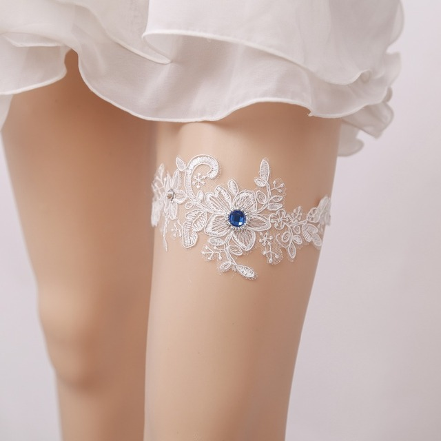 Stretchable White Women S Y Garter Lace Belt Legs Ring Harness Wedding Garters Bridal Leg
