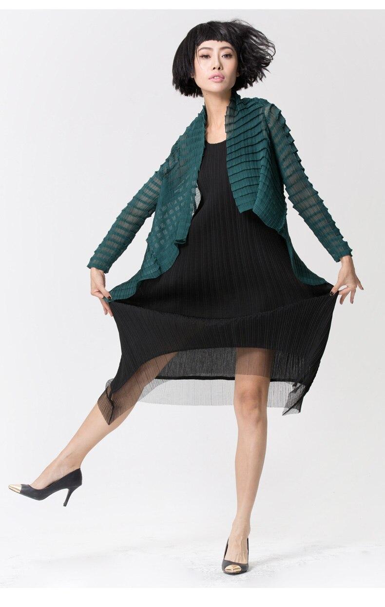 81729221df Miyak plisowana kamizelka nieregularne sukienka Klasyczna mała ...