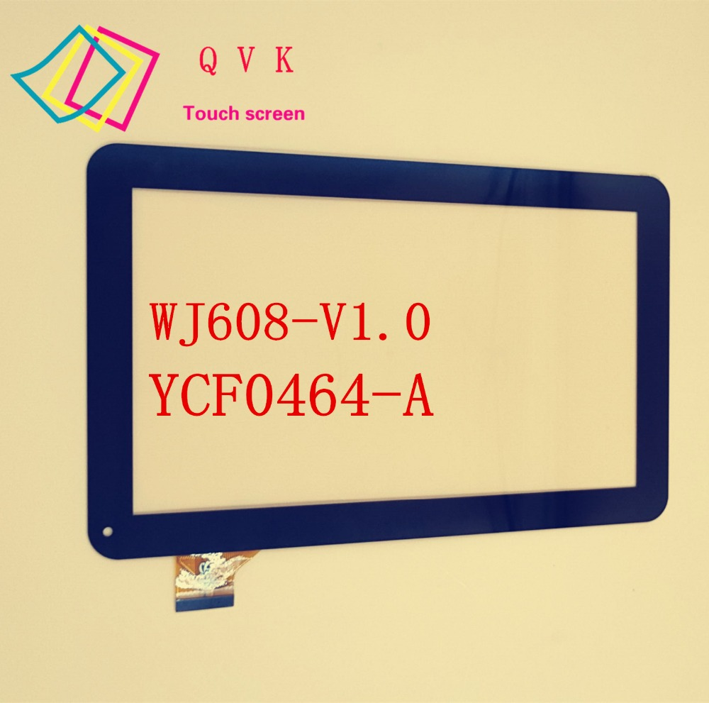for SUPRA M121G oysters T12 T12D T12V 3G tablet pc 10.1inch capacitive touch screen panel YCF0464-A WJ608-V1.0 10 1inch ycf0464 ycf0464 a for oysters t12 t12d t12v 3g tablet pc a external capacitive touch screen capacitance panel