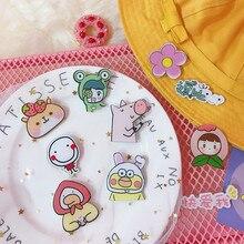 1 cartoon cute animal series brooch acrylic badge icon on a backpack pin decorative dress