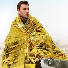 Survival foil blanket 210*160mm camping hunting  Hiking tourism and trips Emergency Blankets survival kit