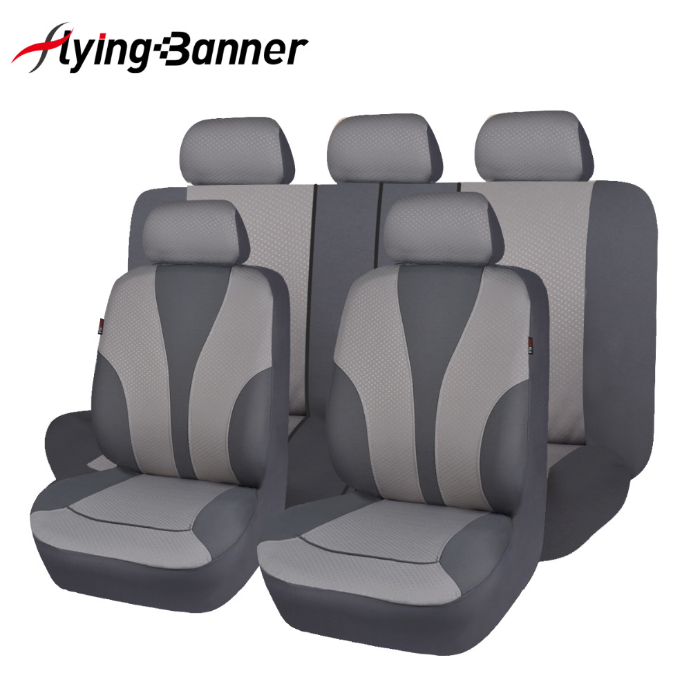 2018 Polyester Fabric Car Seat Cover Set Universal Automobile Seat Covers Auto Seat Interior Styling Decoration Protect