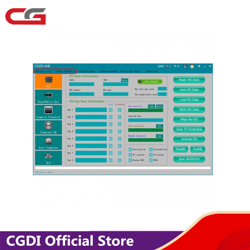Mileage Repair and Gateway Read/Write Authorization for CGDI Prog for MB Key ProgrammerMileage Repair and Gateway Read/Write Authorization for CGDI Prog for MB Key Programmer