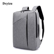 DXYIZU مصمم جديد حقائب الظهر للرجال سعة كبيرة الظهر حقيبة للرجل موضة الأعمال السفر الذكور محمول على ظهره 15.6 بوصة