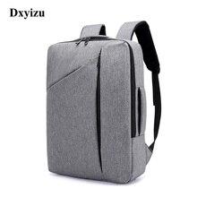 DXYIZU חדש תרמילי מעצב עבור גברים גדול קיבולת חזרה תיק לגבר אופנה עסקי Travelling זכר תרמיל מחשב נייד 15.6 אינץ