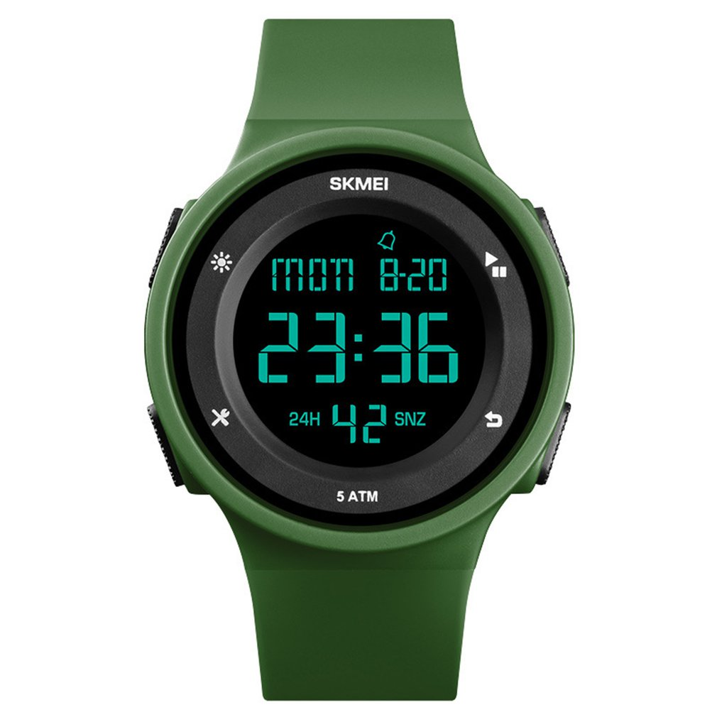 SKMEI Wrist Watch Silicone Strap LED Digital Clock Watch 50m Waterproof Casual Outdoor Sport Watch Models Relogio Watches