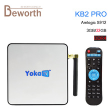 YOKA KB2 PRO Android 6.0 Octa base 3G DDR4 32G Smart TV boîte Amlogic S912 4 K H.265 Double Bande WiFi Bluetooth 4.0 Streaming Lecteur