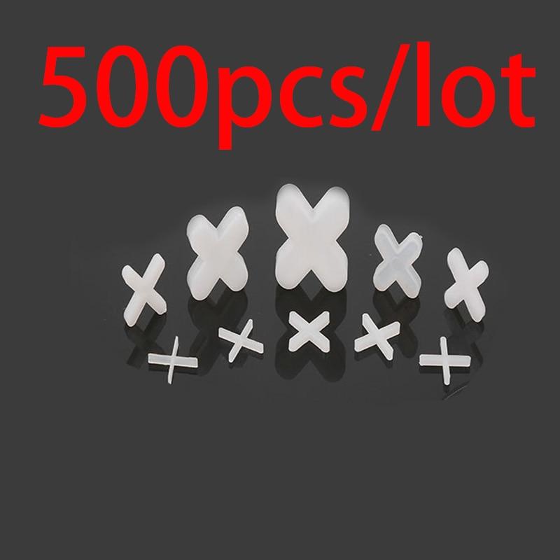 500pcs 1.0mm Plastic Tile Spacer Cross Tiling Ceramic Tilers Plumbers White Cross Clips For Reuseable Tile Leveling System