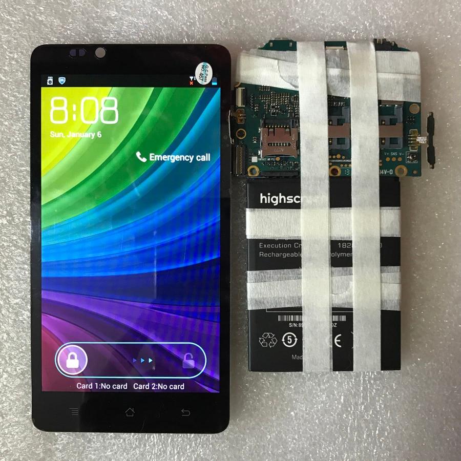 100% NOUVEAU test 5.3 pouces LCD Pour Highscreen Omega Premier XL Écran lcd + Écran Tactile Assemblée Panneau de Verre avec numéro de suivi
