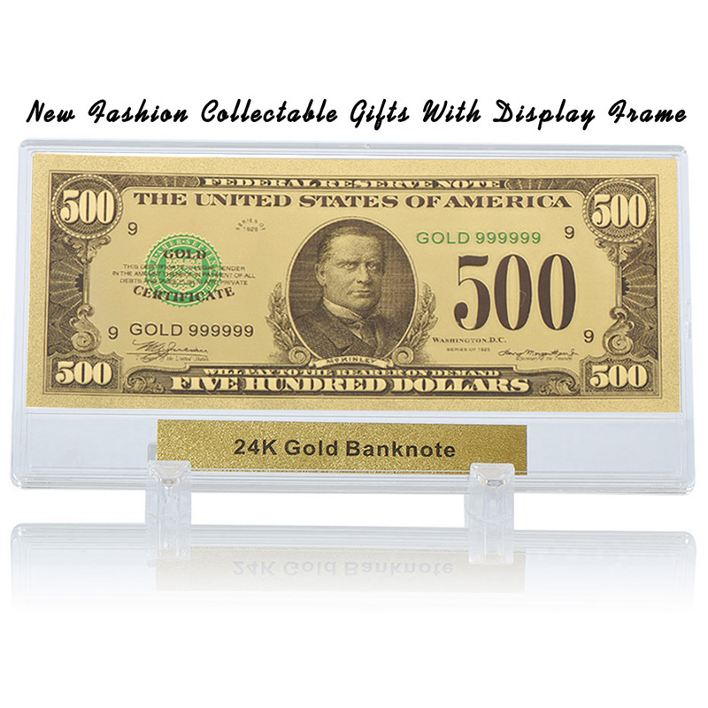 Desk Decorative Souvenir Gifts 1928 Year 100 Dollar Colorful Banknote with Stand