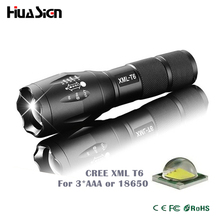 Professional 3800LM CREE XML-T6 LED Flashlight High quality 5 Modes Zoomable lanterna Torch Lighting