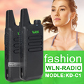 2 Шт./лот KD-C1 UHF 400-470 МГц Черный портативный приемопередатчик cb радио мини радио walkie talkie