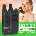 2 Pçs/lote KD-C1 UHF 400-470 MHz Preto handheld cb radio mini walkie talkie rádio transceptor