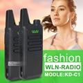2 Unids/lote KD-C1 UHF 400-470 MHz cb radio mini walkie talkie de radio transmisor-receptor portátil Negro