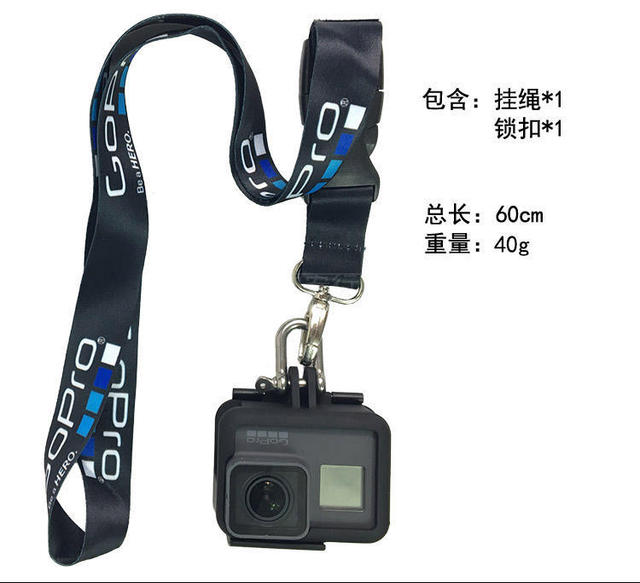 Accessories Neck Strap Lanyard Sling with Quick-released Buckle for GoPro7 6 5 5s 4 3+ 3 2 1 Action sports Camera 3